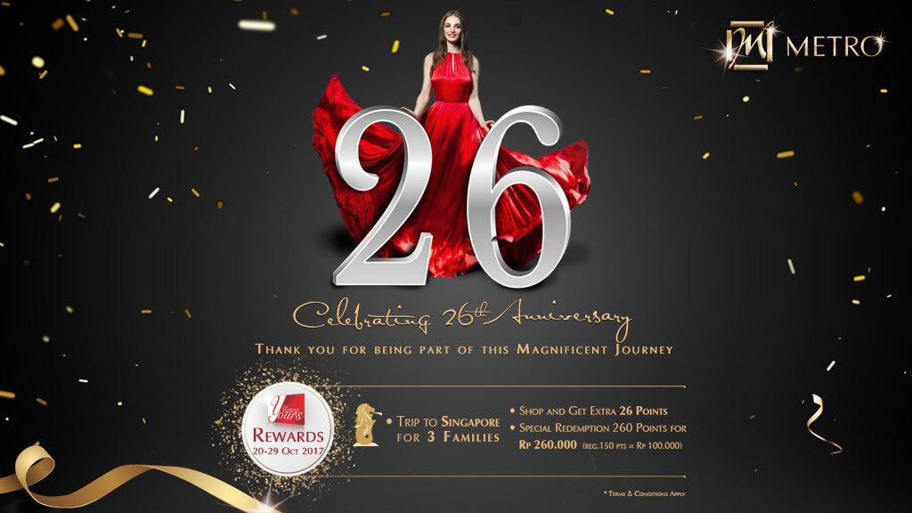 26th Wedding Anniversary Gift: METRO Dept. Store Indonesia
