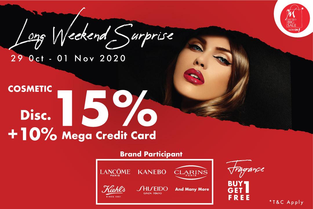 cosmetic long weekend surprise