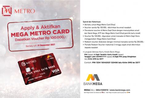 AKTIVASI MEGA METRO CARD LAUNCHING